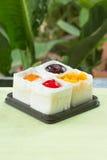 Strawberry, Blueberry, Orange and slice aweet egg mini cake Royalty Free Stock Photography