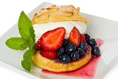 Strawberry and Blueberry Shortcake Royalty Free Stock Image