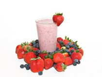 Strawberry Blueberry Smoothie Stock Image