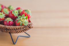 Strawberry on boat copy space Stock Images