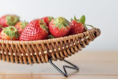 Strawberry on boat Royalty Free Stock Photos