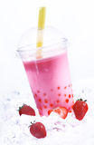 Strawberry Boba Tea Stock Photo