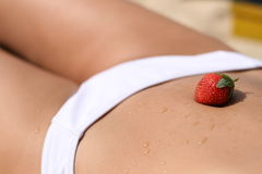 Strawberry and body Royalty Free Stock Photography