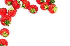 Strawberry Border Royalty Free Stock Photos