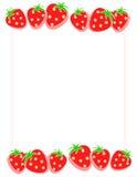 Strawberry Border / Frame Stock Photos