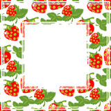Strawberry border Royalty Free Stock Images