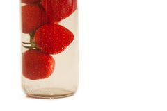 Strawberry in the bottle Royalty Free Stock Photography