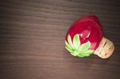 Strawberry bottle stopper Stock Images