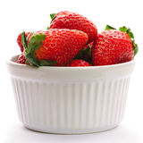 Strawberry in bowl Stock Photography