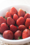 Strawberry in bowl Stock Image