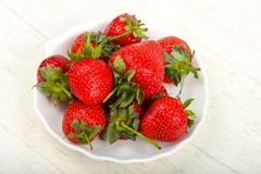 Strawberry in the bowl. Bright Strawberry in the bowl Stock Image