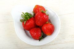 Strawberry in the bowl. Bright Strawberry in the bowl Stock Photo