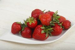 Strawberry in the bowl. Bright Strawberry in the bowl Stock Images