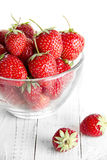 Strawberry bowl Stock Images