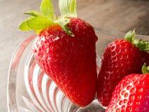 Strawberry bowl Stock Photos