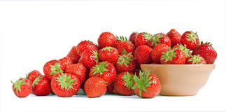 Strawberry and a bowl Royalty Free Stock Image