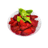 Strawberry in the bowl isolated Royalty Free Stock Photos