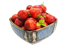 Strawberry in the bowl Stock Photos