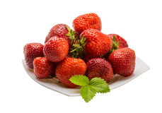 Strawberry in the bowl Stock Image