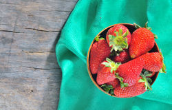 Strawberry in a Bowl Royalty Free Stock Photos