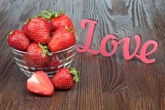 Strawberry in a bowl Royalty Free Stock Image