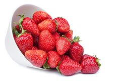 Strawberry in a bowl Stock Photography