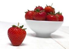 Strawberry bowl Royalty Free Stock Photo