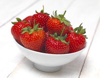 Strawberry bowl Royalty Free Stock Images