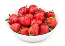 Strawberry bowl. On white background Royalty Free Stock Image