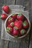 Strawberry in a Bowl Stock Images