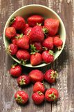 Strawberry in a bowl Stock Image