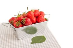 Strawberry in box Stock Photography