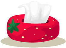 Strawberry box of tissue Stock Images