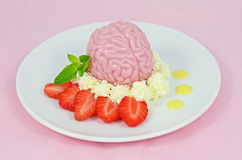 Strawberry brain dessert Royalty Free Stock Images