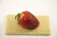 Strawberry on bread Stock Photos