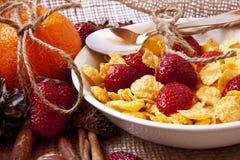 Strawberry breakfast Royalty Free Stock Photo