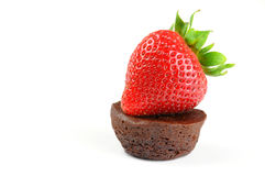 Strawberry and Brownie Royalty Free Stock Photo