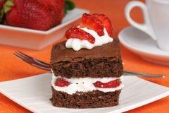 Strawberry brownie Royalty Free Stock Photo