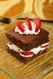 Strawberry Brownie Royalty Free Stock Image