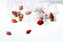 Strawberry Bubble Background Royalty Free Stock Image