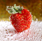 Strawberry in a bubble of water Stock Image