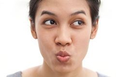 Funny face girl Royalty Free Stock Images