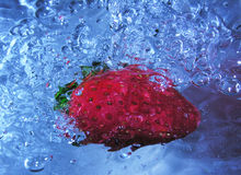 Strawberry bubbles Stock Image