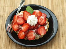 Strawberry bun Royalty Free Stock Images