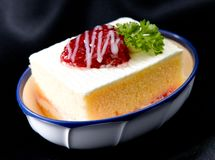 Butter strawberry cake isolated  Stock Image