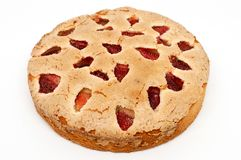 Strawberry Butter Cake, Fresh bakery homemade good meal. A place where bread and cakes are made or sold Stock Photo