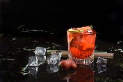 Strawberry caipirinha Royalty Free Stock Images