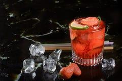 Strawberry caipirinha Stock Image