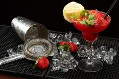 Strawberry caipirinha Stock Photography