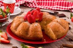 Strawberry cake. Stock Images